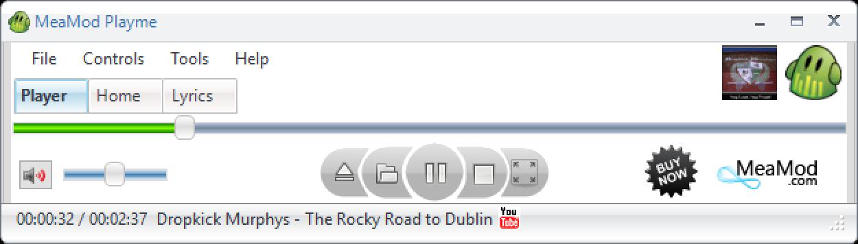 MeaMod Playme Main Window Screenshot